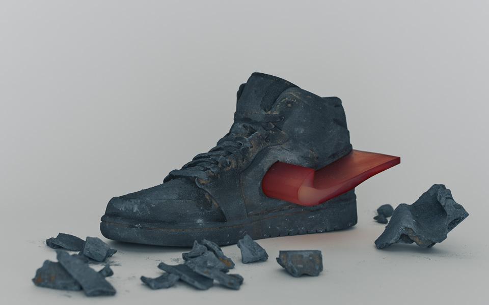 Icônes faites de sable #01 «Nike AIR JORDAN 1»